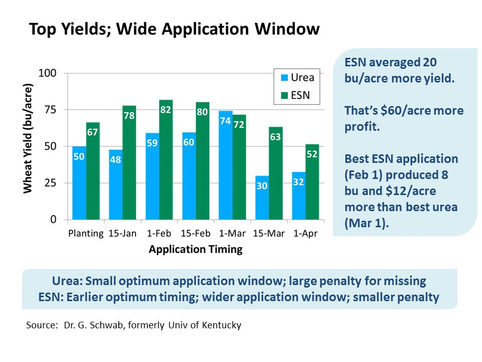 esn wheat yields